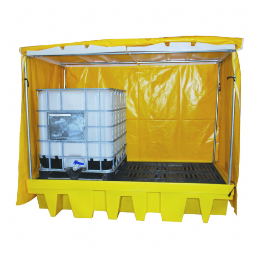 Double IBC Sump Pallet - Covered